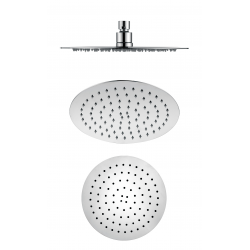 Shower head round metallic