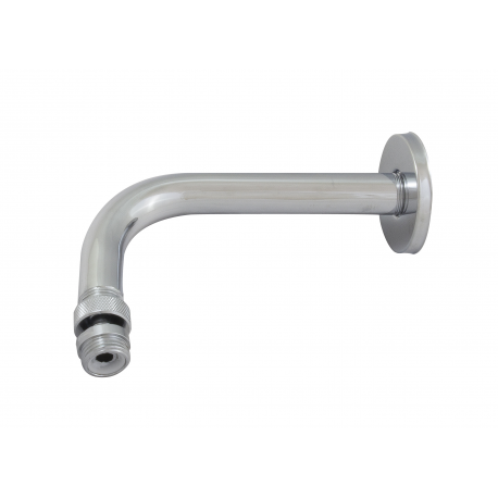 Arm of shower with ball joint and florón
