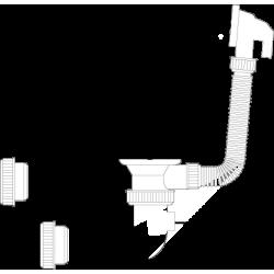 Válvula bañera con rebosadero automático con sifón