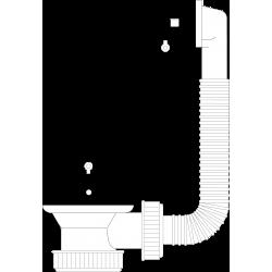 Válvula con rebosadero redondo y cadenilla