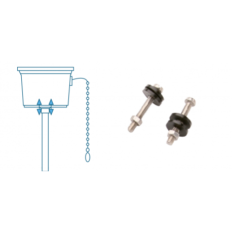 Set 2 screws WC