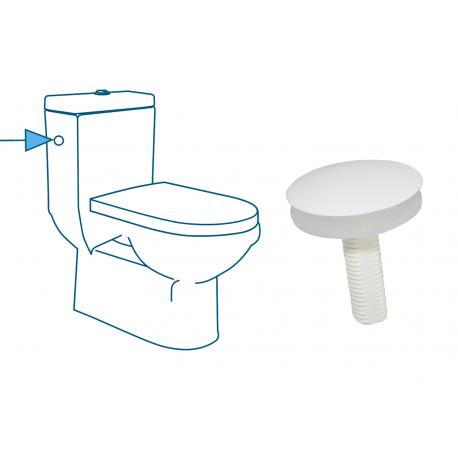 Set of 2 und. tapa orificio WC