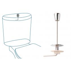 Tirador cisterna baja curvo