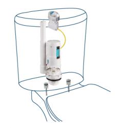 Descarga cisterna W.C. doble pulsador