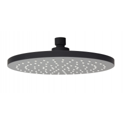 SHOWER HEAD ROUND ABS BLACK