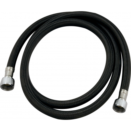 Hose PVC black braided