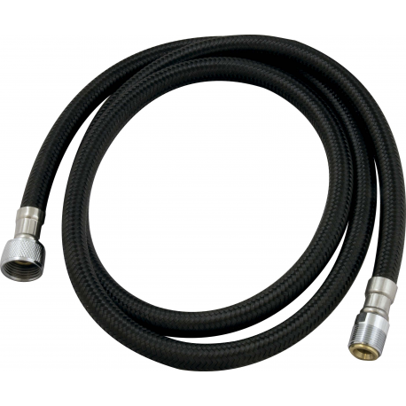 Hose PVC black braided