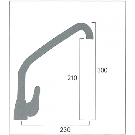 Single lever high pipe