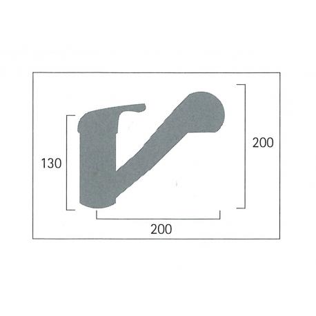 Extendable Single lever tap