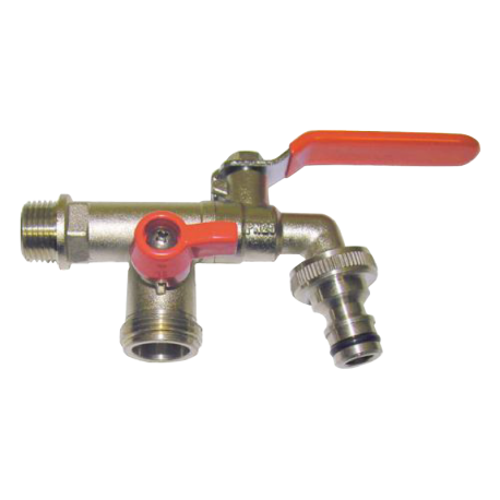 tap double jardin m1/2 x h3/4 x h3/4 with plug fast