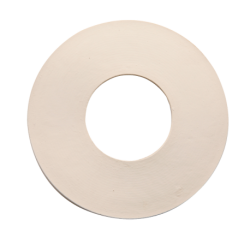joint of rubber white flat