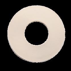 Junta goma blanca plana