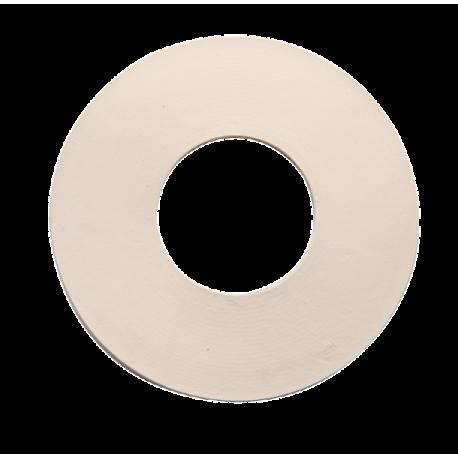 Junta de goma blanca plana
