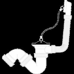 Válvula de bañera con rebosadero y sifón