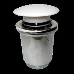Válvula CLIC-CLAC Cromada seta porcelana blanca