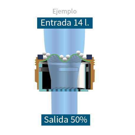 Water saving 50% filter
