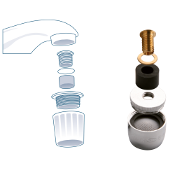 Areators for faucets without thread