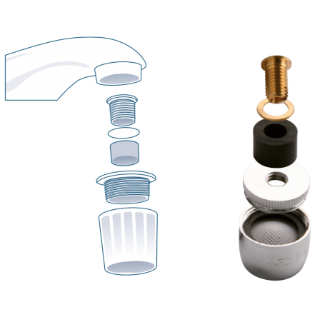 Threadless faucet aerator